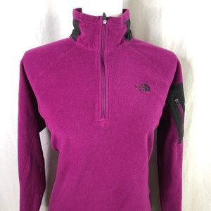 The North Face Womens Purple L Flash Dry 1/4 Zip